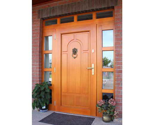 AG FENETRES - Porte d'entree en bois visuel 1
